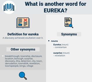 eureka, synonym eureka, another word for eureka, words like eureka, thesaurus eureka