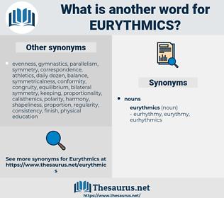 eurythmics, synonym eurythmics, another word for eurythmics, words like eurythmics, thesaurus eurythmics