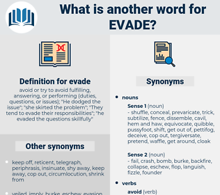 evade, synonym evade, another word for evade, words like evade, thesaurus evade