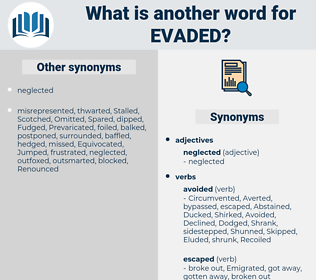 Evaded, synonym Evaded, another word for Evaded, words like Evaded, thesaurus Evaded