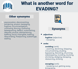 Evading, synonym Evading, another word for Evading, words like Evading, thesaurus Evading