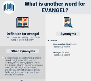 evangel, synonym evangel, another word for evangel, words like evangel, thesaurus evangel