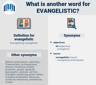evangelistic, synonym evangelistic, another word for evangelistic, words like evangelistic, thesaurus evangelistic