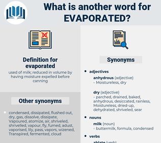 evaporated, synonym evaporated, another word for evaporated, words like evaporated, thesaurus evaporated