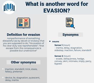 evasion, synonym evasion, another word for evasion, words like evasion, thesaurus evasion
