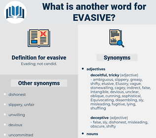 evasive, synonym evasive, another word for evasive, words like evasive, thesaurus evasive