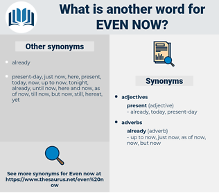 even now, synonym even now, another word for even now, words like even now, thesaurus even now