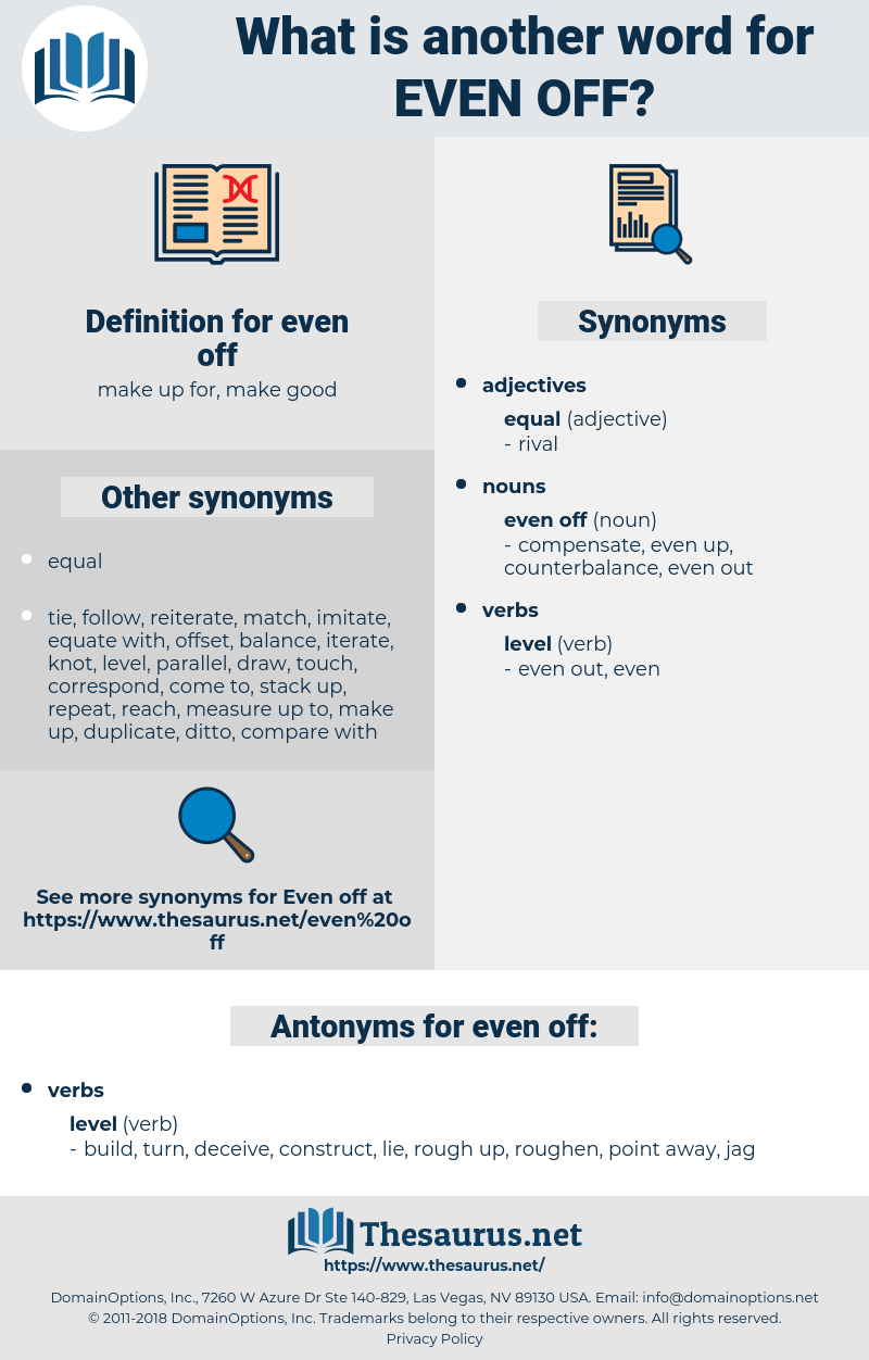 even off, synonym even off, another word for even off, words like even off, thesaurus even off