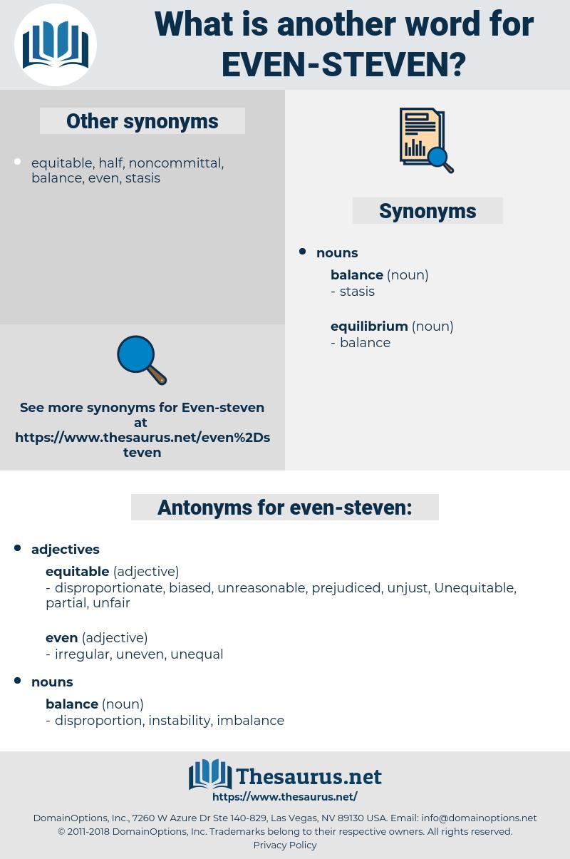 even-steven, synonym even-steven, another word for even-steven, words like even-steven, thesaurus even-steven