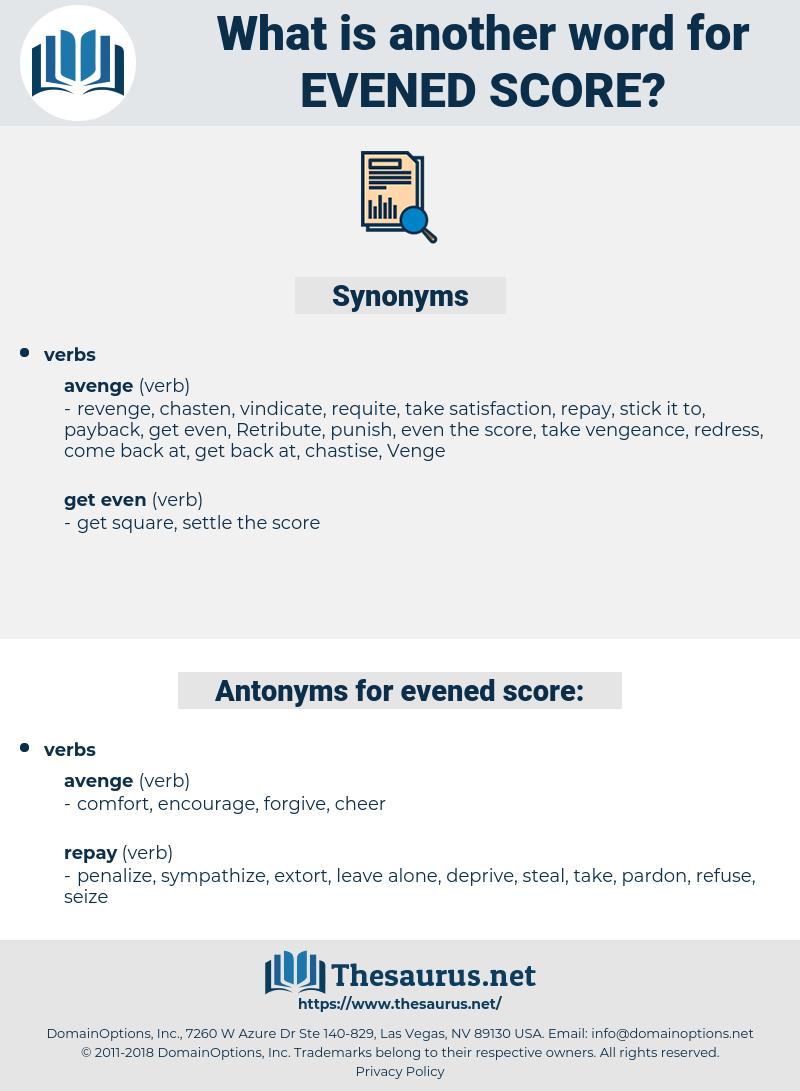 evened score, synonym evened score, another word for evened score, words like evened score, thesaurus evened score