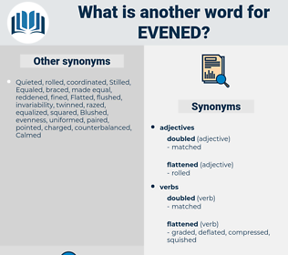 Evened, synonym Evened, another word for Evened, words like Evened, thesaurus Evened
