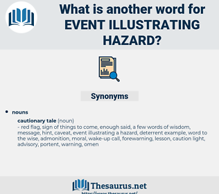 event illustrating hazard, synonym event illustrating hazard, another word for event illustrating hazard, words like event illustrating hazard, thesaurus event illustrating hazard