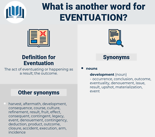 Eventuation, synonym Eventuation, another word for Eventuation, words like Eventuation, thesaurus Eventuation
