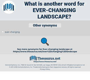 ever-changing landscape, synonym ever-changing landscape, another word for ever-changing landscape, words like ever-changing landscape, thesaurus ever-changing landscape