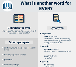 ever, synonym ever, another word for ever, words like ever, thesaurus ever