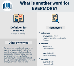 evermore, synonym evermore, another word for evermore, words like evermore, thesaurus evermore