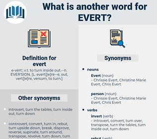 evert, synonym evert, another word for evert, words like evert, thesaurus evert