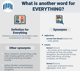 Everything, synonym Everything, another word for Everything, words like Everything, thesaurus Everything