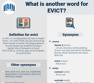 evict, synonym evict, another word for evict, words like evict, thesaurus evict