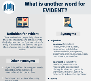 evident, synonym evident, another word for evident, words like evident, thesaurus evident