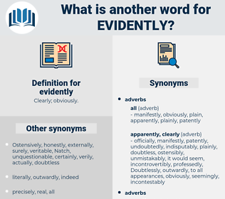 evidently, synonym evidently, another word for evidently, words like evidently, thesaurus evidently