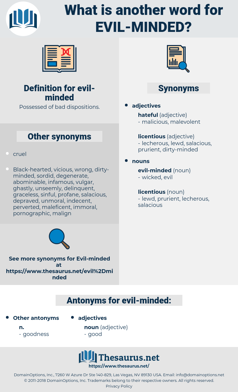 evil minded, synonym evil minded, another word for evil minded, words like evil minded, thesaurus evil minded
