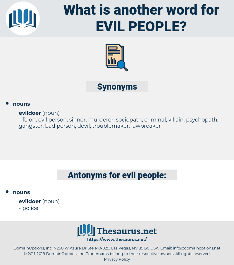 evil people, synonym evil people, another word for evil people, words like evil people, thesaurus evil people