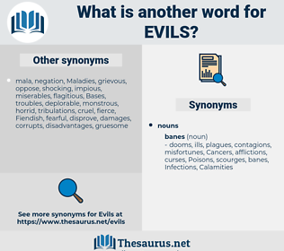 evils, synonym evils, another word for evils, words like evils, thesaurus evils