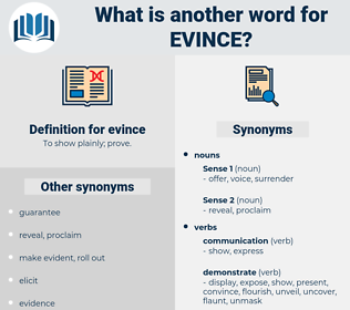 evince, synonym evince, another word for evince, words like evince, thesaurus evince