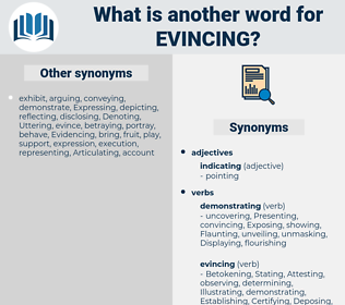 Evincing, synonym Evincing, another word for Evincing, words like Evincing, thesaurus Evincing