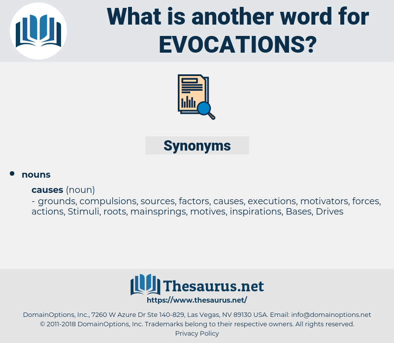 evocations, synonym evocations, another word for evocations, words like evocations, thesaurus evocations