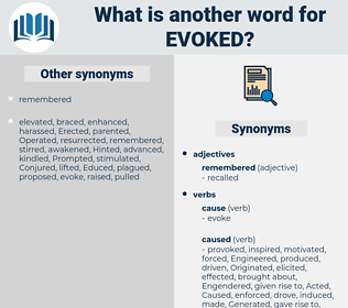 evoked, synonym evoked, another word for evoked, words like evoked, thesaurus evoked