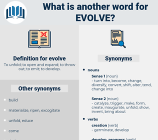 evolve, synonym evolve, another word for evolve, words like evolve, thesaurus evolve