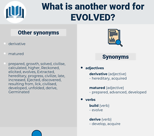 Evolved, synonym Evolved, another word for Evolved, words like Evolved, thesaurus Evolved