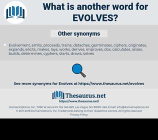 evolves, synonym evolves, another word for evolves, words like evolves, thesaurus evolves