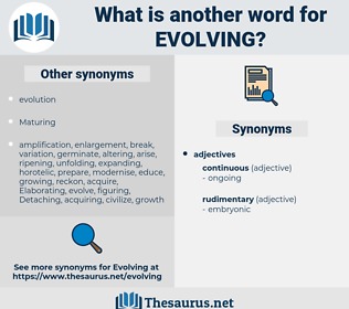 Evolving, synonym Evolving, another word for Evolving, words like Evolving, thesaurus Evolving