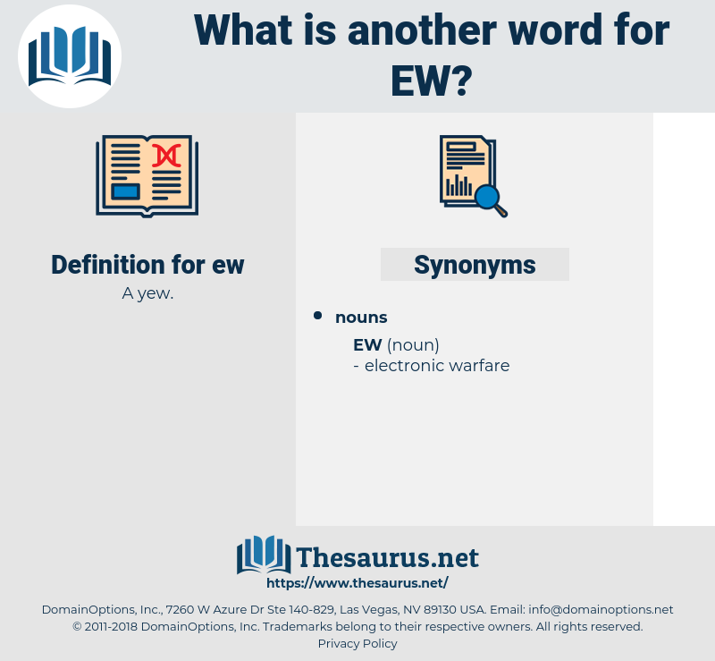 Synonyms for EW - Thesaurus net