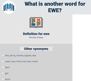 ewe, synonym ewe, another word for ewe, words like ewe, thesaurus ewe