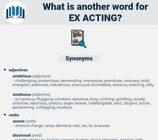 ex-acting, synonym ex-acting, another word for ex-acting, words like ex-acting, thesaurus ex-acting