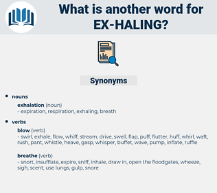 ex-haling, synonym ex-haling, another word for ex-haling, words like ex-haling, thesaurus ex-haling