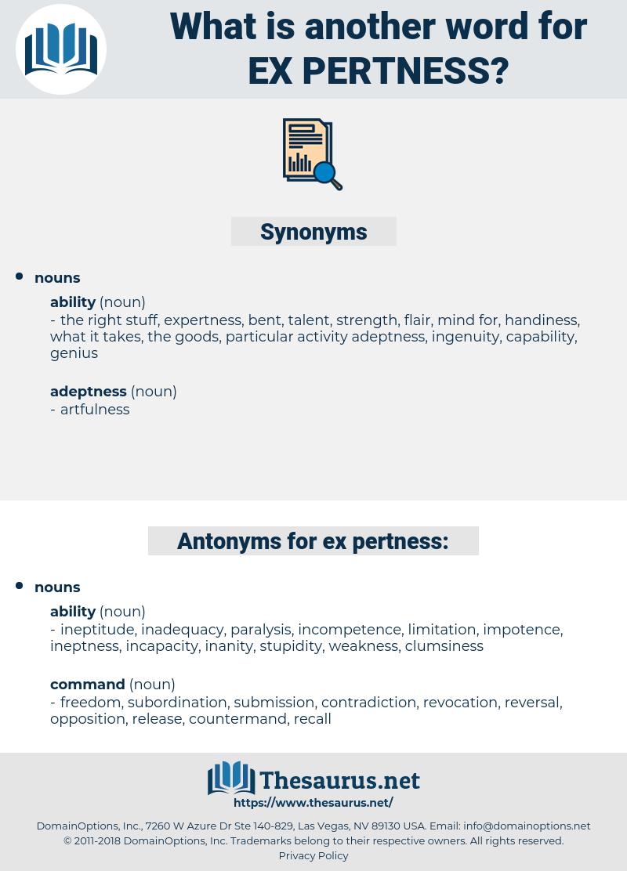 ex pertness, synonym ex pertness, another word for ex pertness, words like ex pertness, thesaurus ex pertness