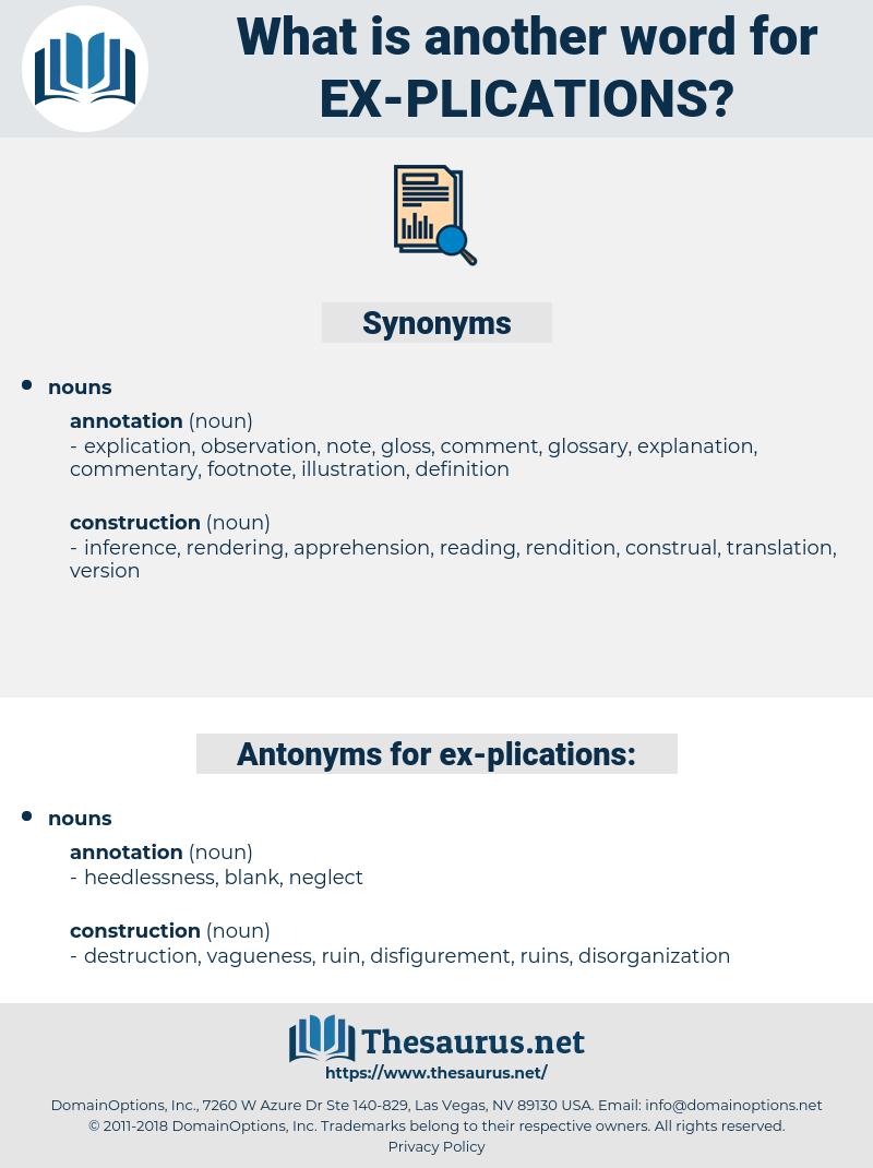 ex plications, synonym ex plications, another word for ex plications, words like ex plications, thesaurus ex plications
