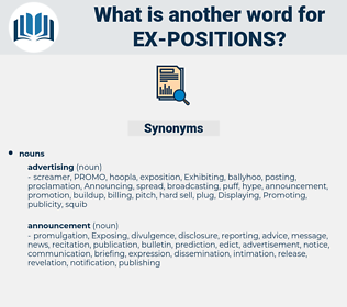 ex positions, synonym ex positions, another word for ex positions, words like ex positions, thesaurus ex positions