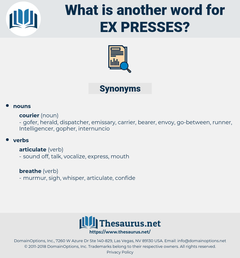 ex-presses, synonym ex-presses, another word for ex-presses, words like ex-presses, thesaurus ex-presses