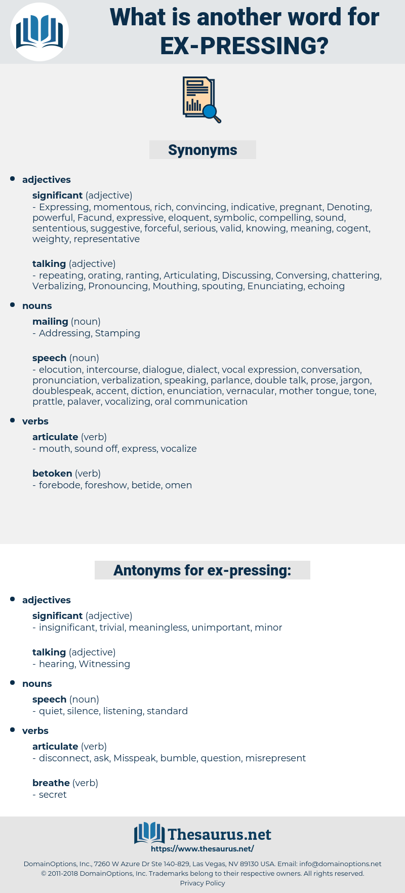ex-pressing, synonym ex-pressing, another word for ex-pressing, words like ex-pressing, thesaurus ex-pressing