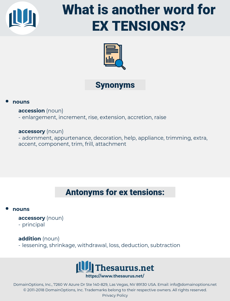 ex-tensions, synonym ex-tensions, another word for ex-tensions, words like ex-tensions, thesaurus ex-tensions