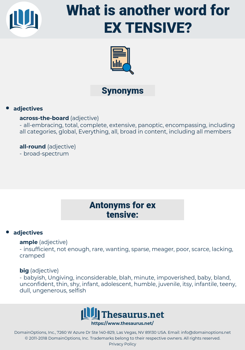 ex-tensive, synonym ex-tensive, another word for ex-tensive, words like ex-tensive, thesaurus ex-tensive