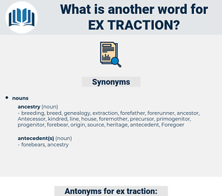 ex traction, synonym ex traction, another word for ex traction, words like ex traction, thesaurus ex traction