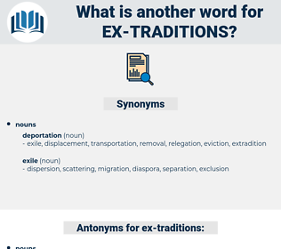 ex-traditions, synonym ex-traditions, another word for ex-traditions, words like ex-traditions, thesaurus ex-traditions