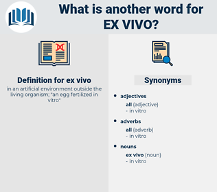 ex vivo, synonym ex vivo, another word for ex vivo, words like ex vivo, thesaurus ex vivo